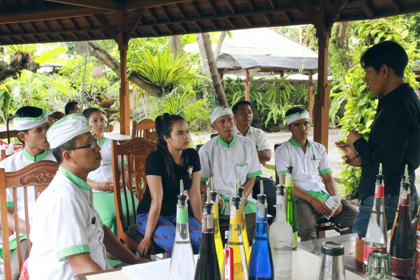 Staff Training at Matahari Bungalows