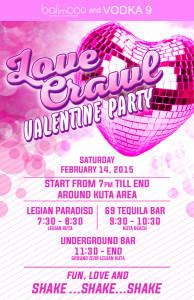 Valentine's Day Love Crawl in Kuta